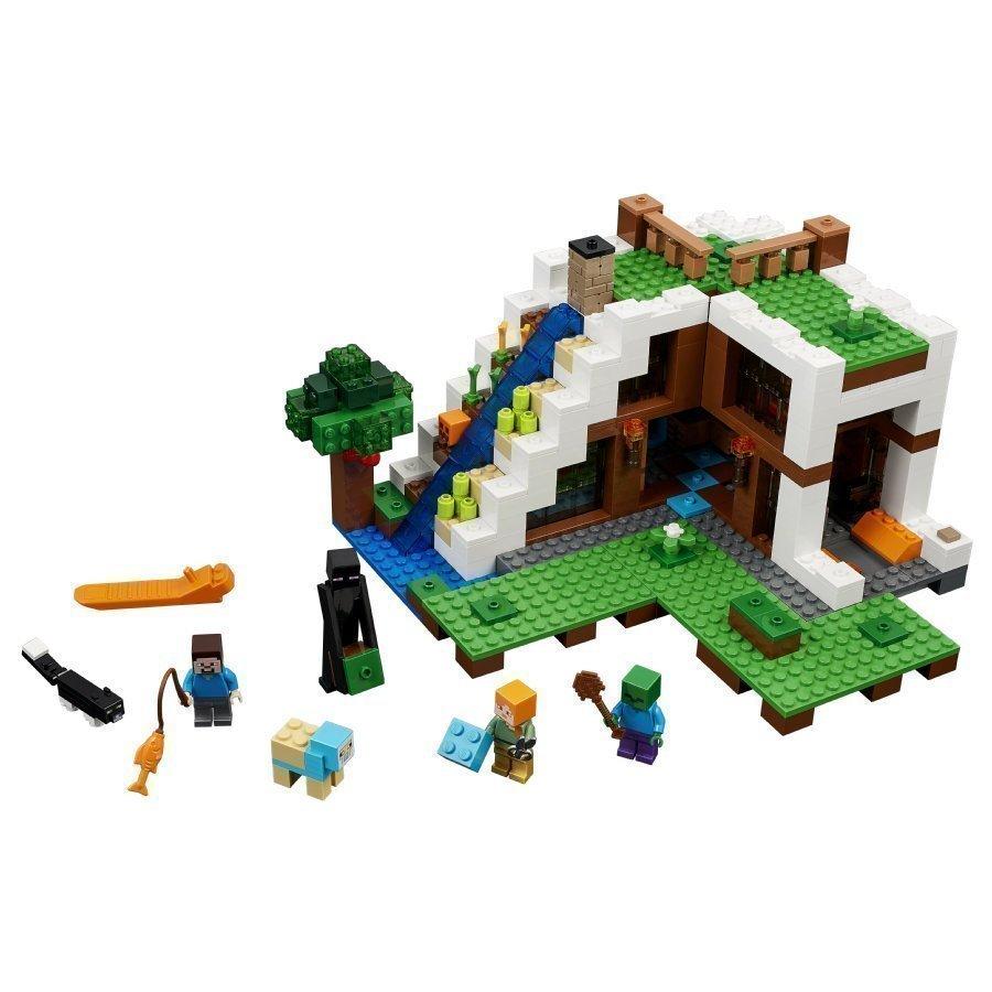 Lego Minecraft Tukikohta Vesiputouksen Luona 21134