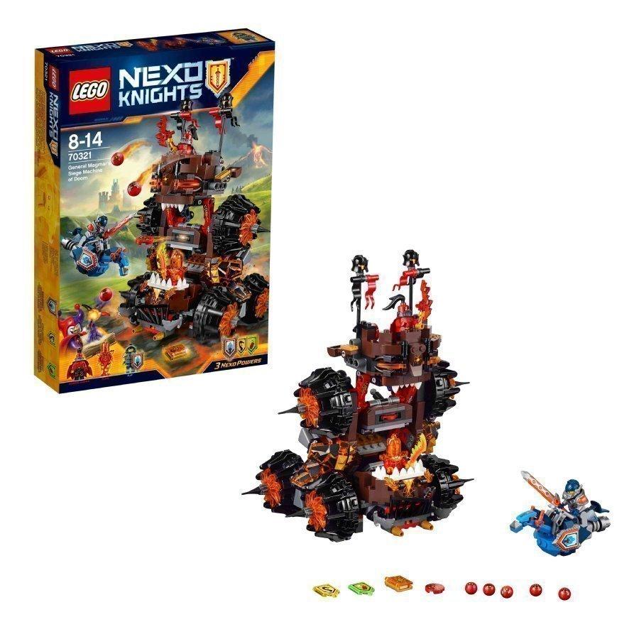 Lego Nexo Knights Kenraali Magmarin Tuhon Piirrityskone 70321