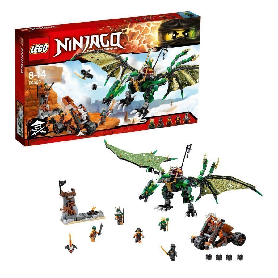 Lego Ninjago Vihreä Nrg Lohikäärme 70593