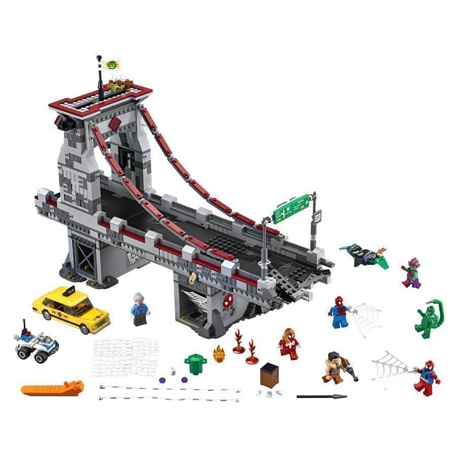 Lego Super Heroes Spider Man Seittisoturien Hurja Siltataistelu 76057