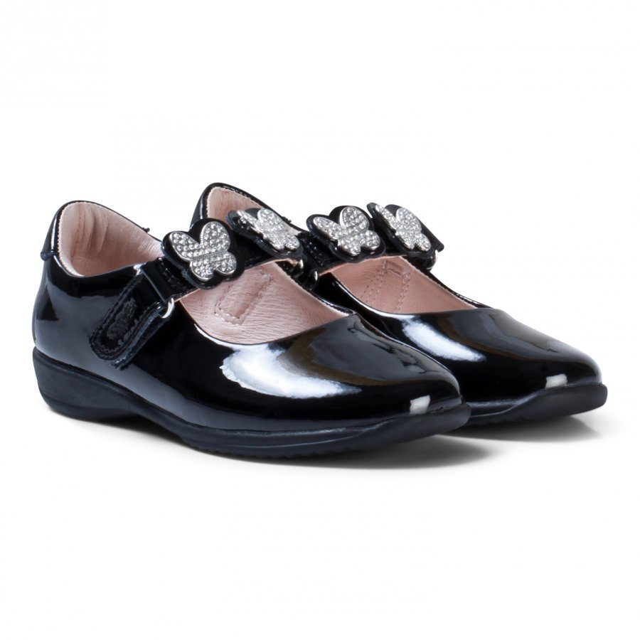 Lelli Kelly Love Black Patent Shoes Maryjane Kengät