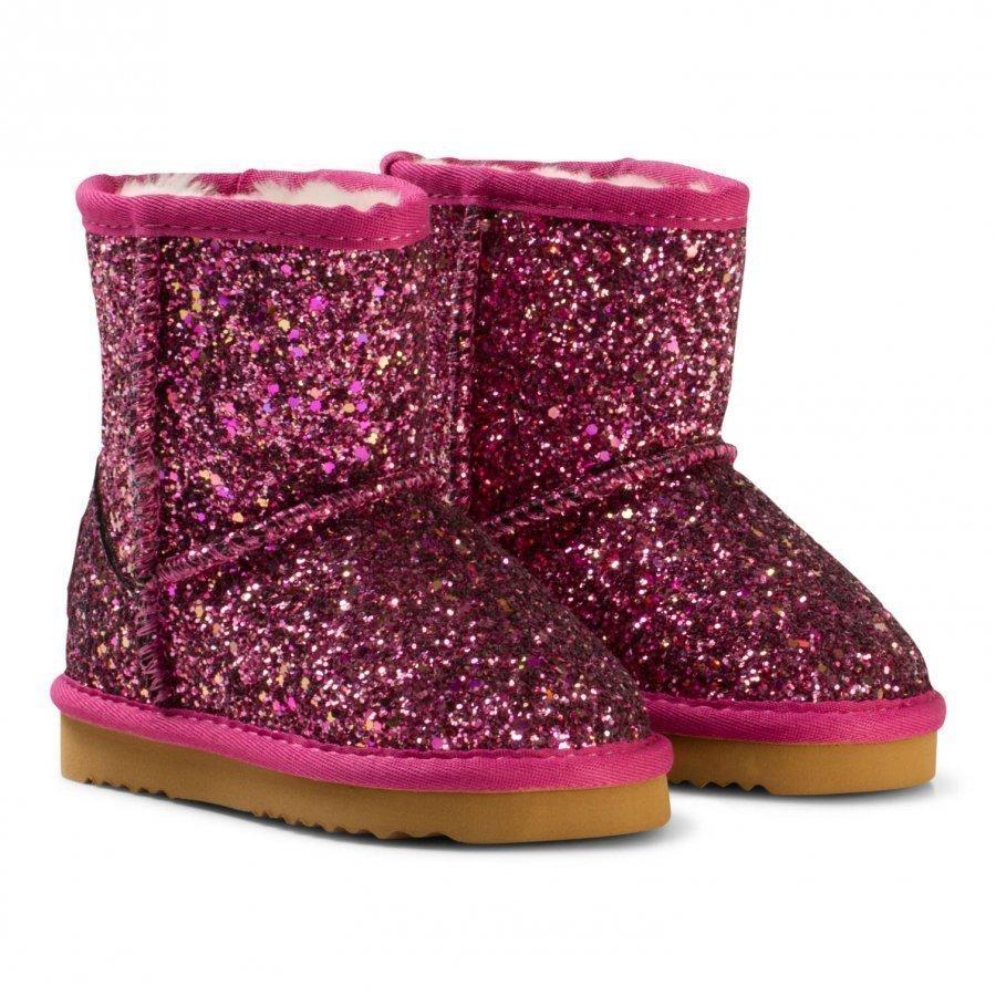 Lelli Kelly Pink Diamante Fuchsia Sandra Shearling Ankle Boots Nilkkurit