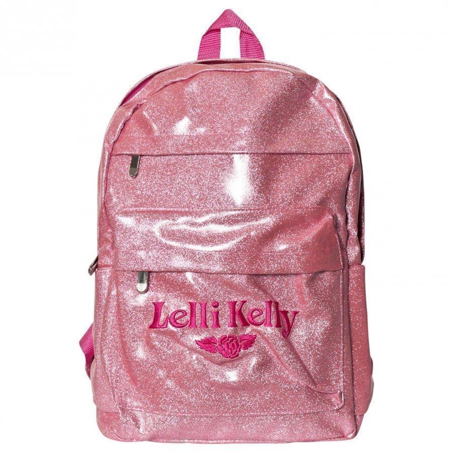 Lelli Kelly Pink Glitter Rucksack Reppu