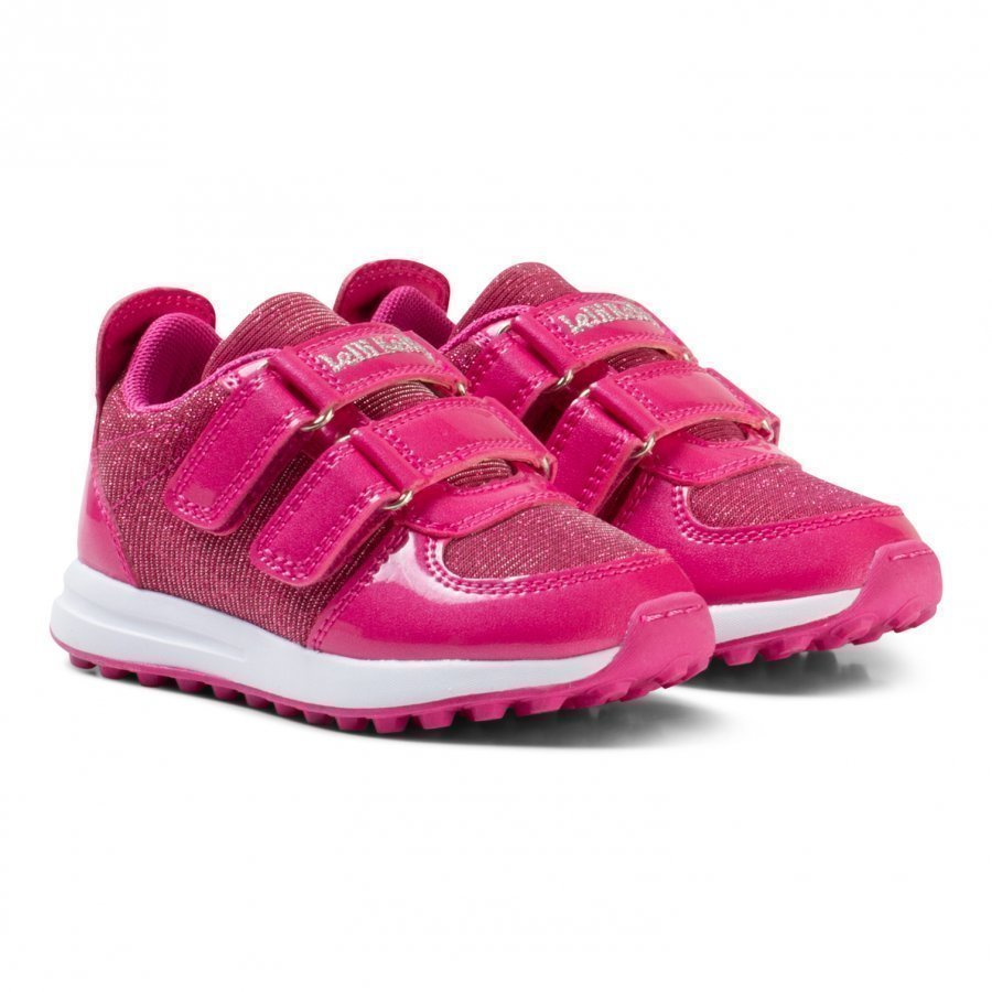 Lelli Kelly Pink Patent Colorissima Velcro Trainers With Interchangable Charm Lenkkarit
