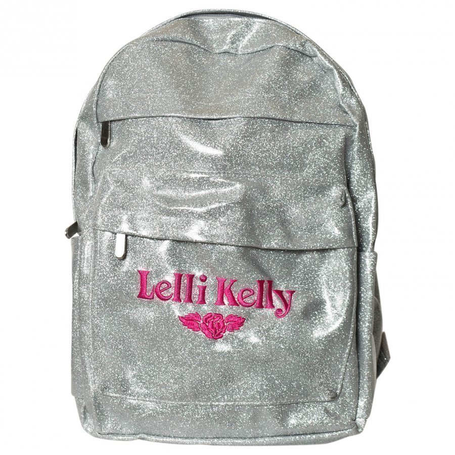 Lelli Kelly Silver Glitter Backpack Reppu