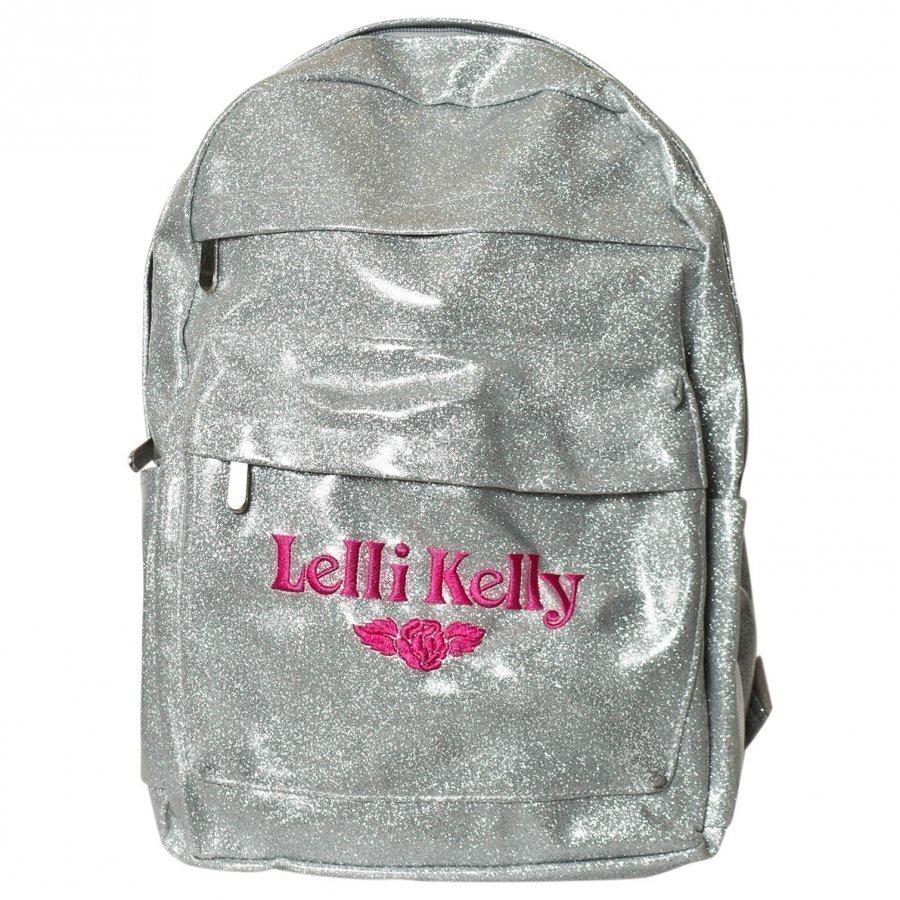 Lelli Kelly Silver Glitter Backpack Reppu