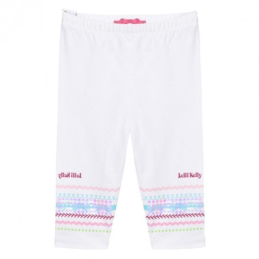 Lelli Kelly White Sequin Branded Leggings Legginsit