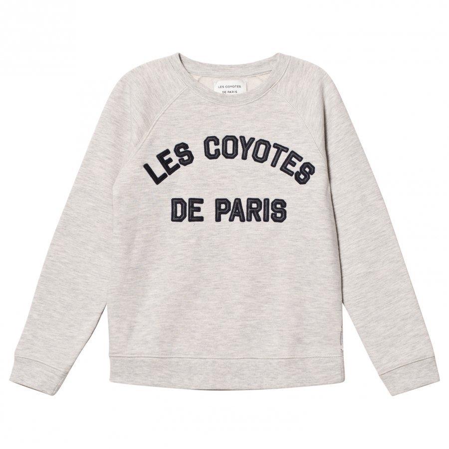 Les Coyotes De Paris Maddy Stone Melange Logo Sweatshirt Oloasun Paita