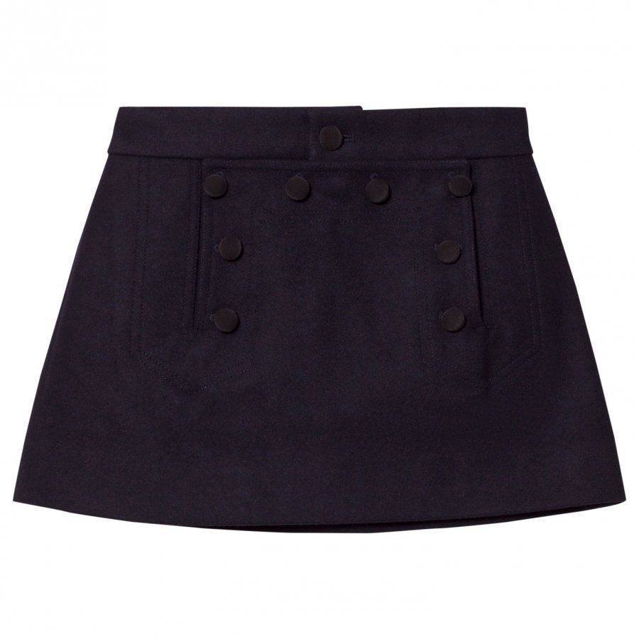 Les Coyotes De Paris Nina Sailor Skirt Navy Midihame