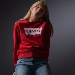 Levis Batwing Crewneck Neule Punainen