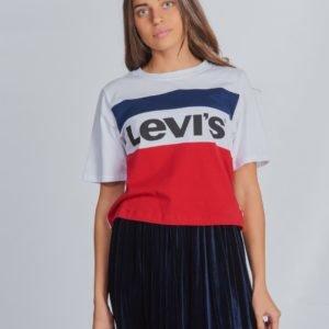 Levis Colorblock Crop T-Paita Kirjava