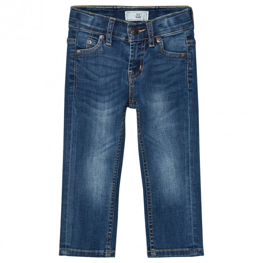 Levis Kids 511 Slim Fit Jeans Medium Wash Farkut