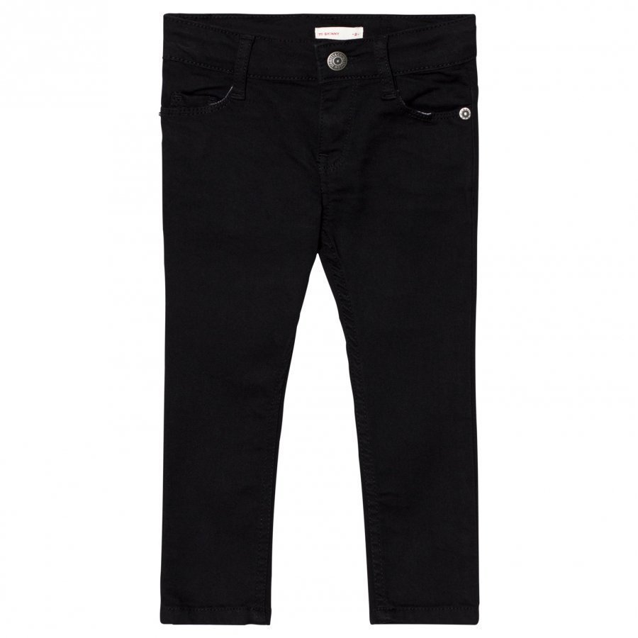 Levis Kids Black 711 Skinny Jeans Farkut