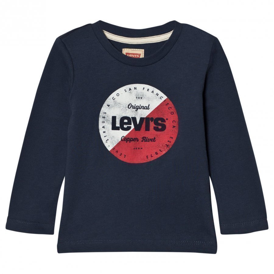 Levis Kids Blue Circle Logo Long Sleeve Tee Pitkähihainen T-Paita