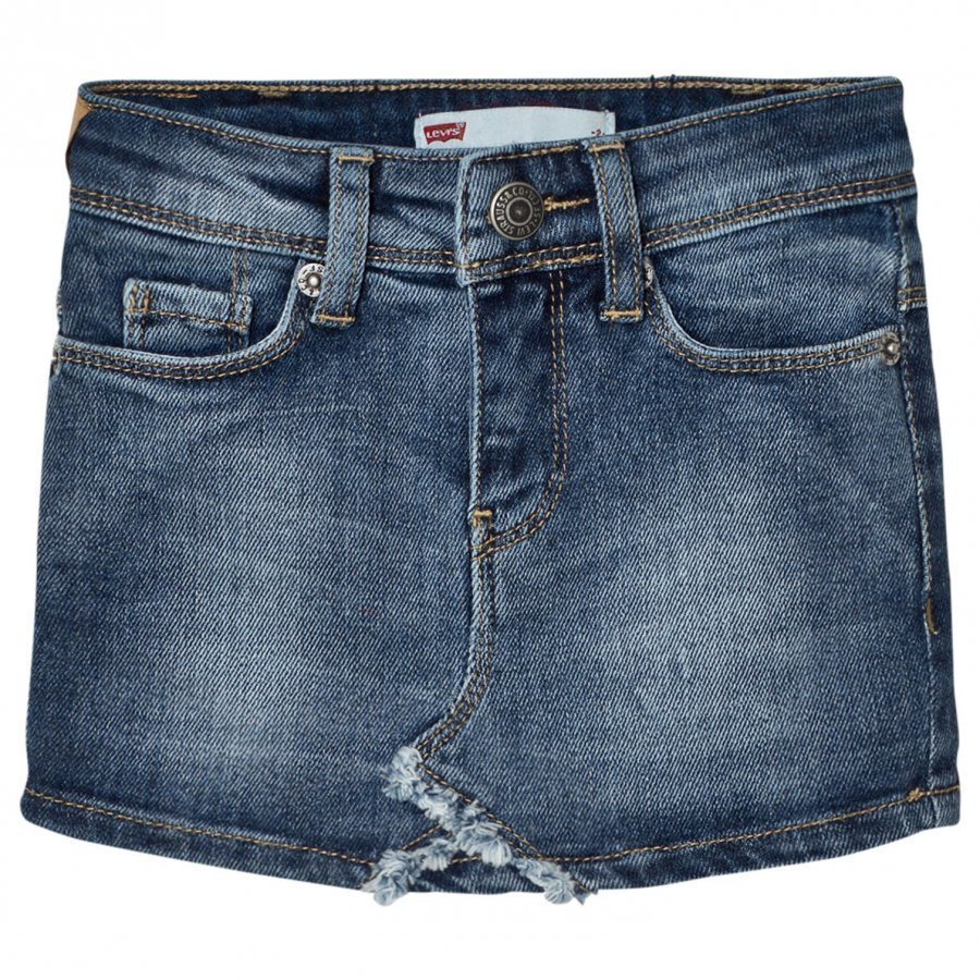 Levis Kids Blue Denim Skirt With Contrast Pocket Farkkuhame