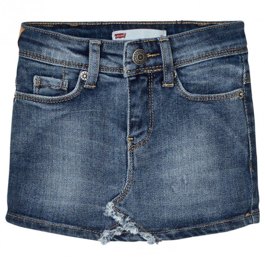 Levis Kids Blue Denim Skirt With Contrast Pocket Farkkuhame