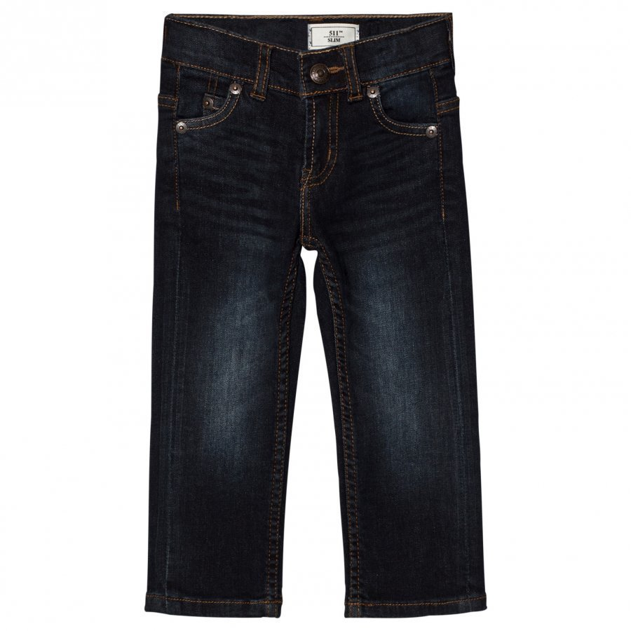 Levis Kids Dark Wash 511 Slim Fit Jeans Farkut