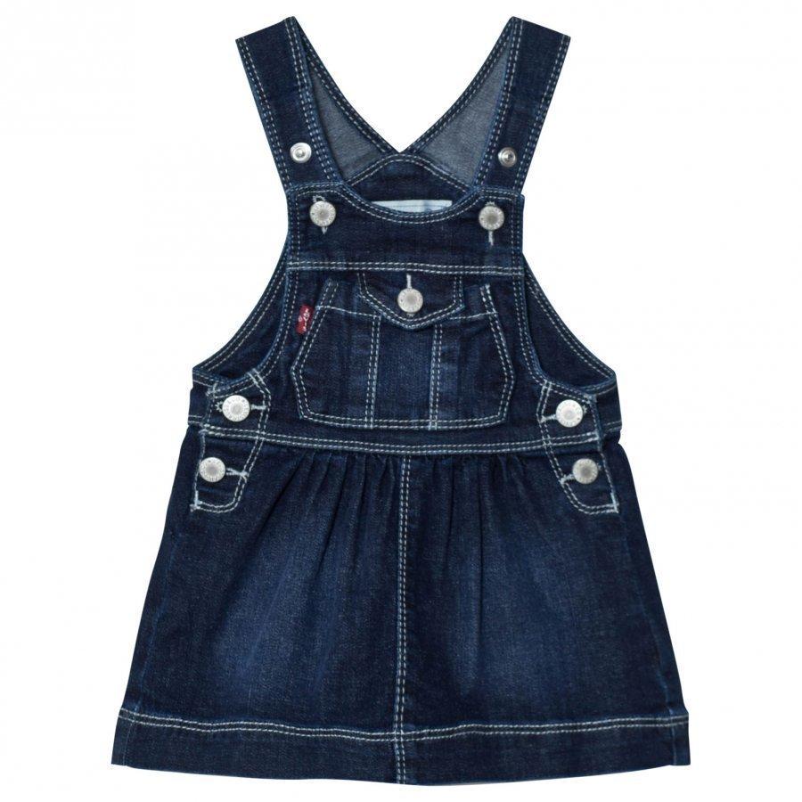 Levis Kids Denim Dungaree Dress Dark Wash Lappuhaalari