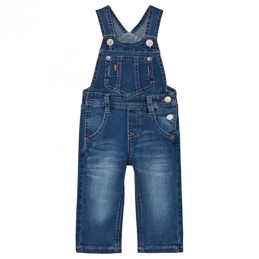 Levis Kids Denim Dungarees Medium Wash Lappuhaalari