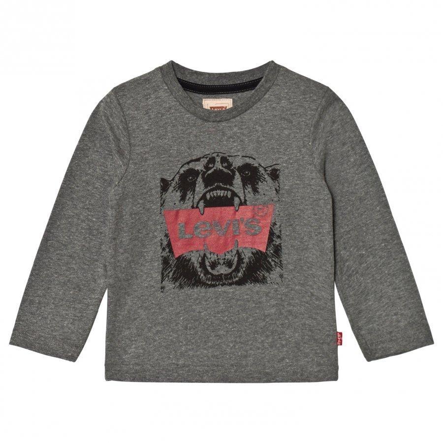 Levis Kids Grey Bear Logo Tee Pitkähihainen T-Paita
