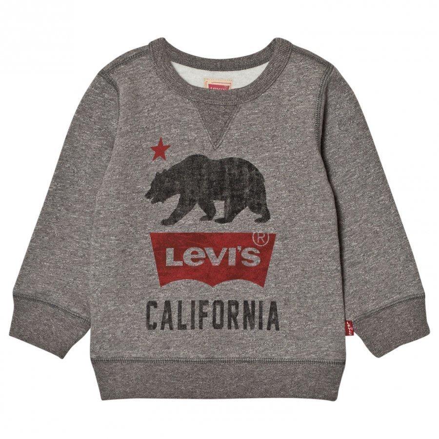 Levis Kids Grey Marl California Logo Sweatshirt Oloasun Paita