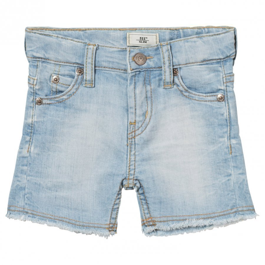 Levis Kids Light Wash 511 Slim Bermuda Shorts Farkkushortsit