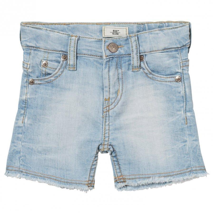 Levis Kids Light Wash 511 Slim Bermuda Shorts Farkkushortsit