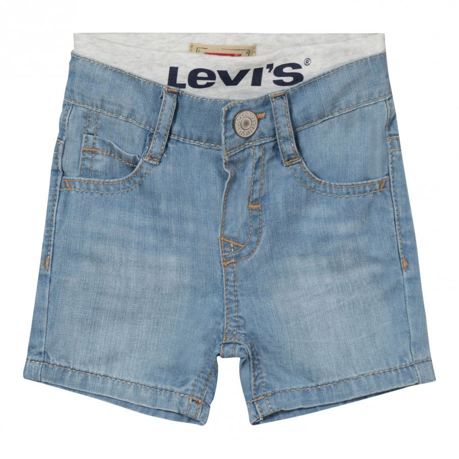 Levis Kids Light Wash Pull Up Shorts Farkkushortsit