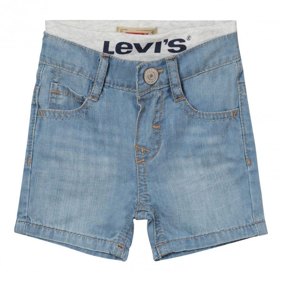 Levis Kids Light Wash Pull Up Shorts Farkkushortsit