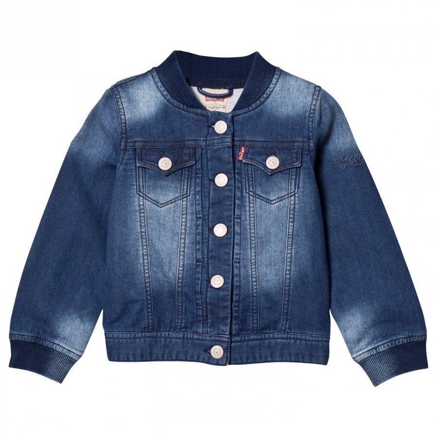 Levis Kids Mid Wash Blue Denim Jacket Farkkutakki
