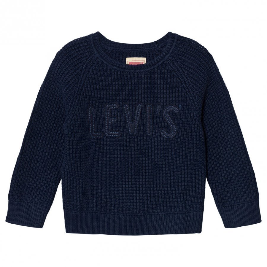 Levis Kids Navy Branded Knit Sweater Huppari