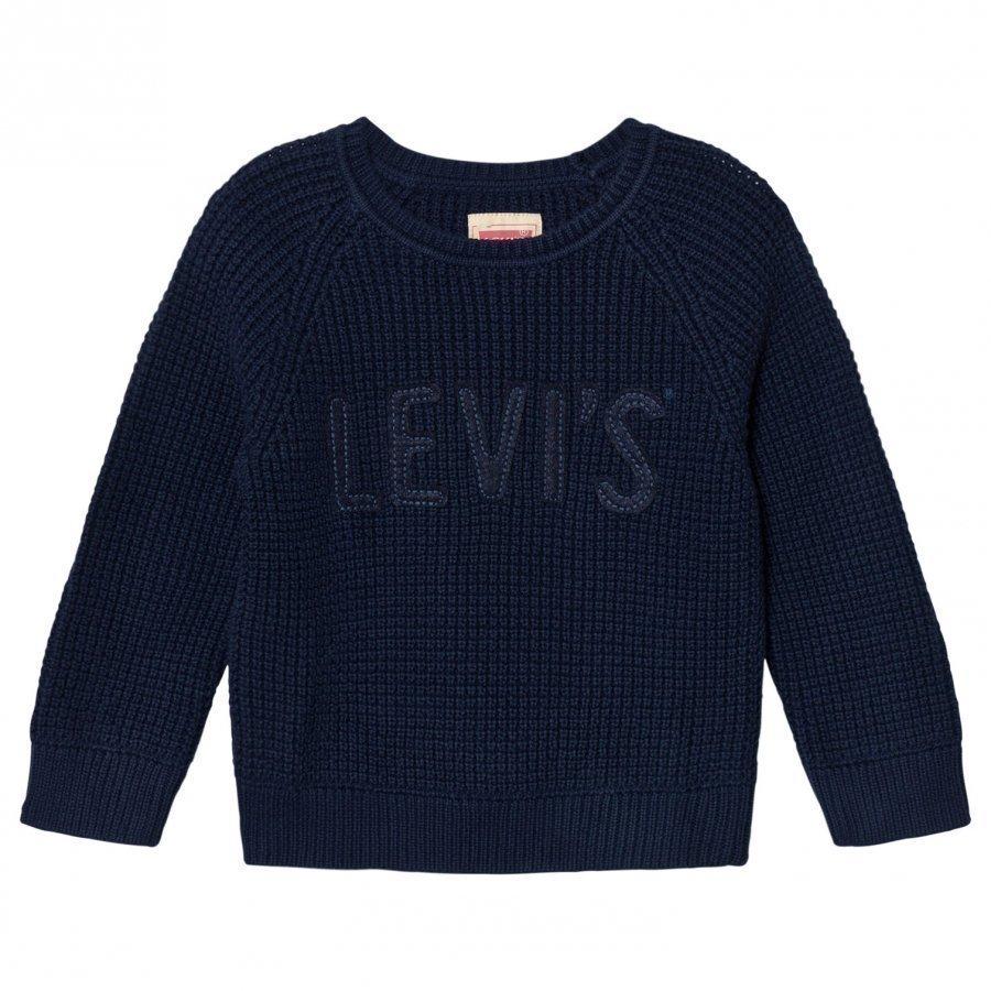 Levis Kids Navy Branded Knit Sweater Huppari