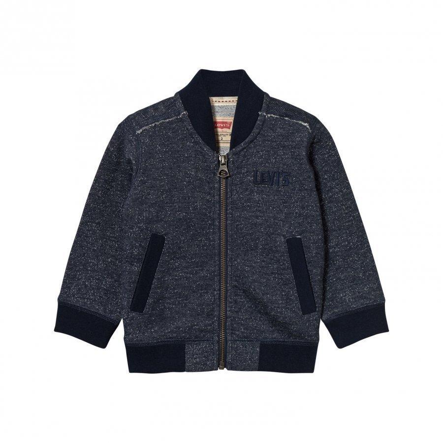 Levis Kids Navy Marl Zip Thru Logo Sweatshirt Oloasun Paita