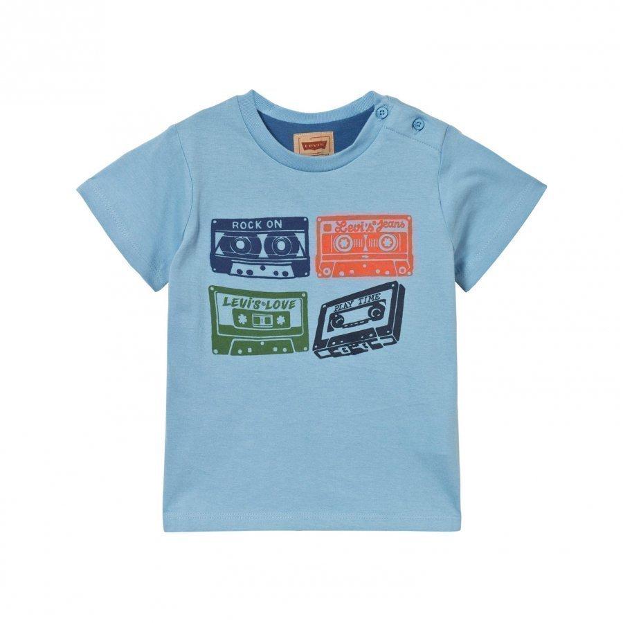 Levis Kids Pale Blue Cassette Print Tee T-Paita
