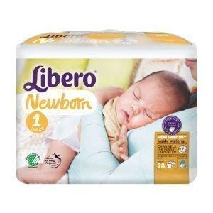 Libero Newborn 1 2-5 Kg Teippivaippa 28 Kpl