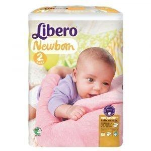 Libero Newborn 2 3-6 Kg Teippivaippa 88 Kpl