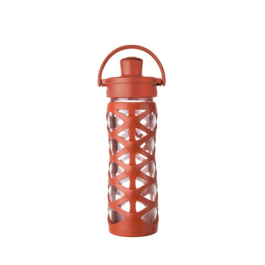 Lifefactory Juomapullo Active Flip Top Cap 475 Ml Golden Gate Orange