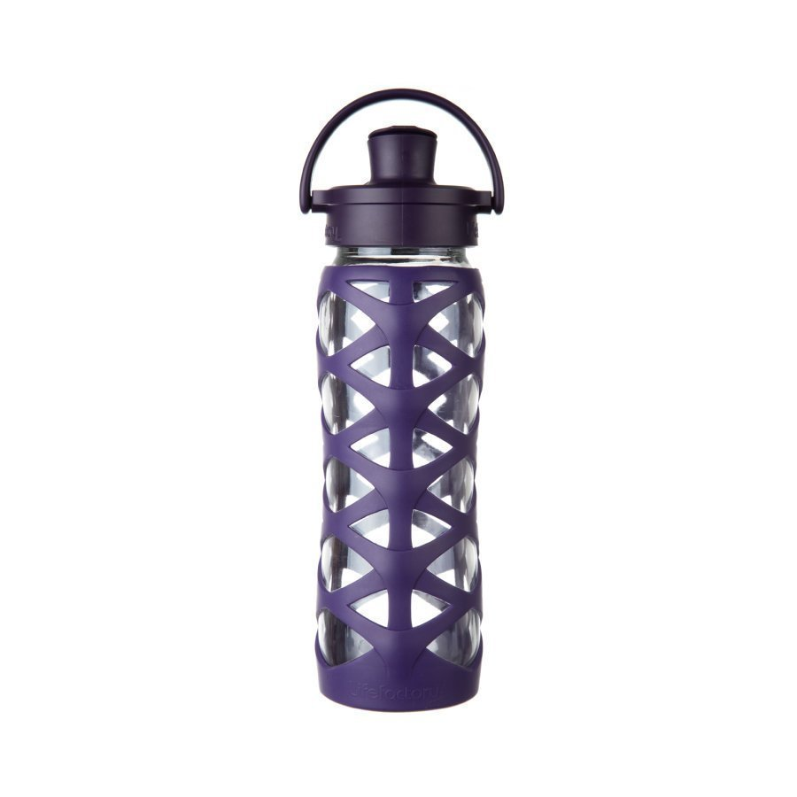 Lifefactory Juomapullo Active Flip Top Cap 650 Ml Aubergine