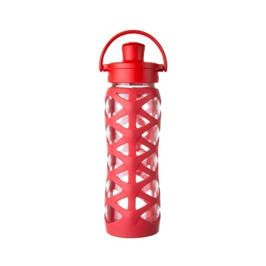 Lifefactory Juomapullo Active Flip Top Cap 650 Ml Charged Red