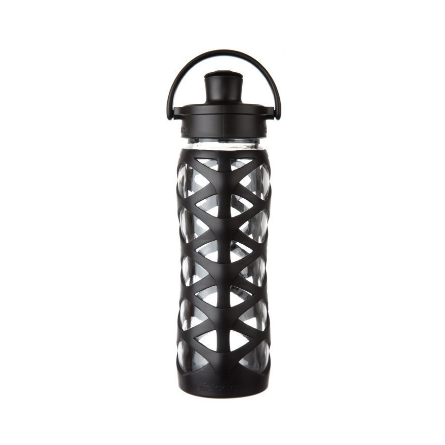 Lifefactory Juomapullo Active Flip Top Cap 650 Ml Onyx