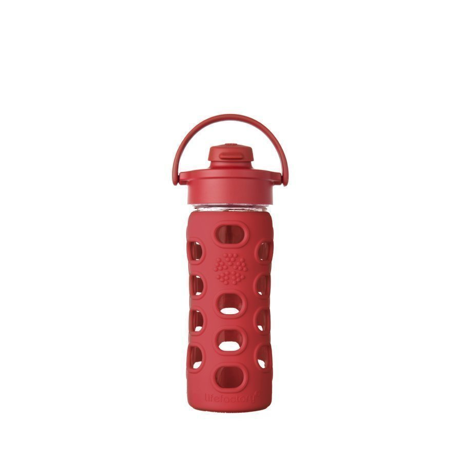 Lifefactory Juomapullo Flip Top Cap 350 Ml Red