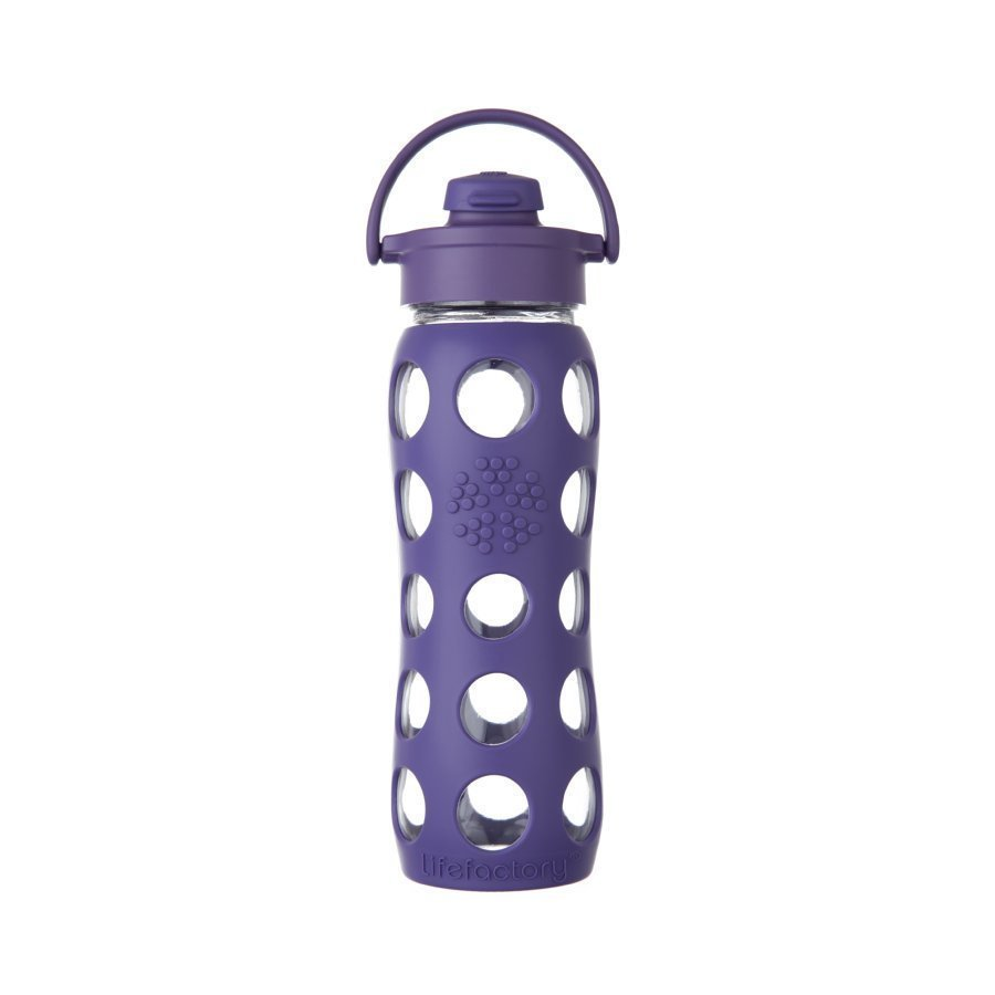 Lifefactory Juomapullo Flip Top Cap 650 Ml Royal Purple