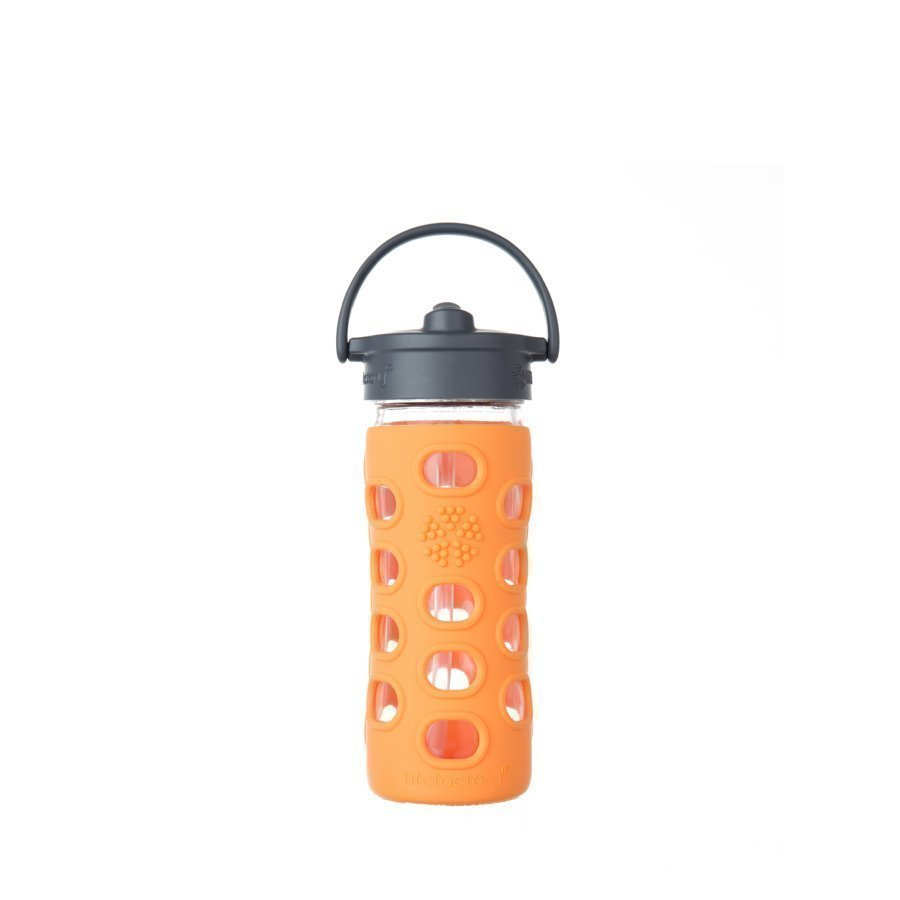 Lifefactory Juomapullo Straw Cap 350 Ml Orange
