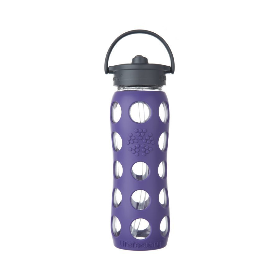 Lifefactory Juomapullo Straw Cap 650 Ml Royal Purple