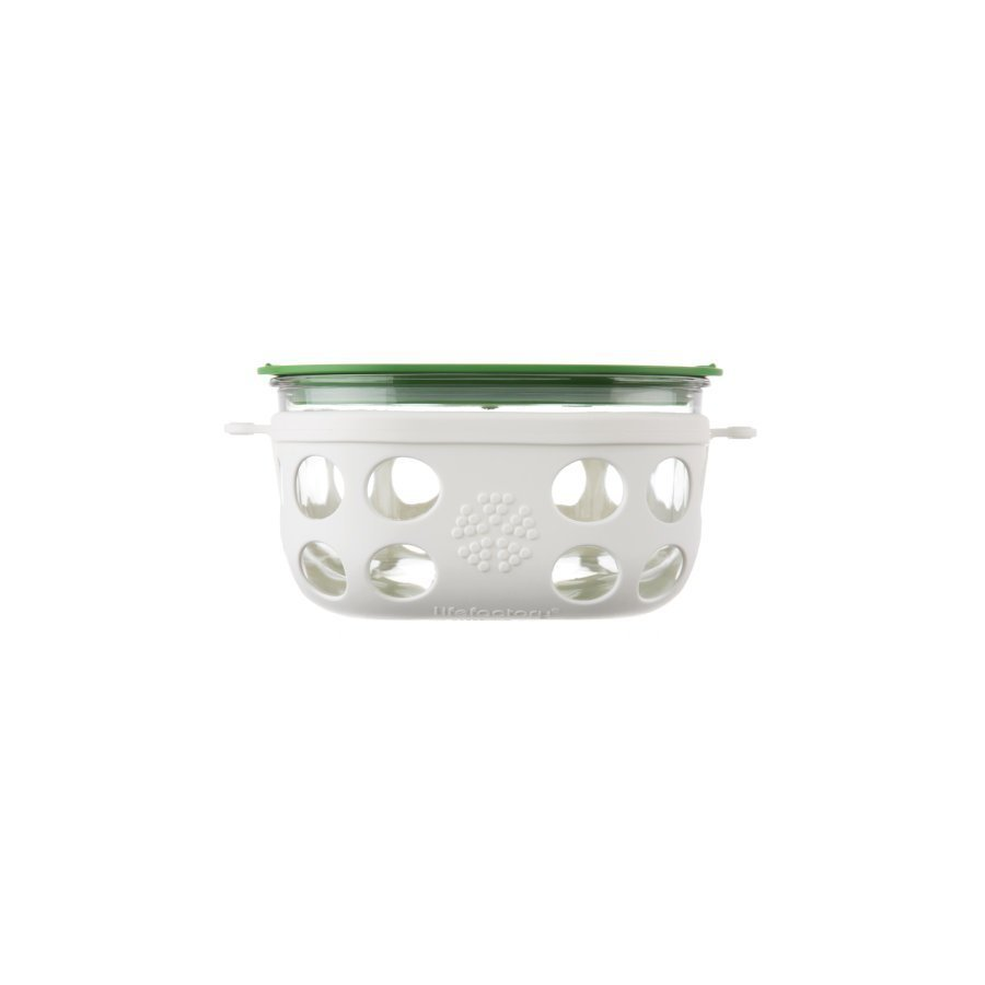 Lifefactory Lasinen Eväsrasia 240 Ml Optic White / Grass Green