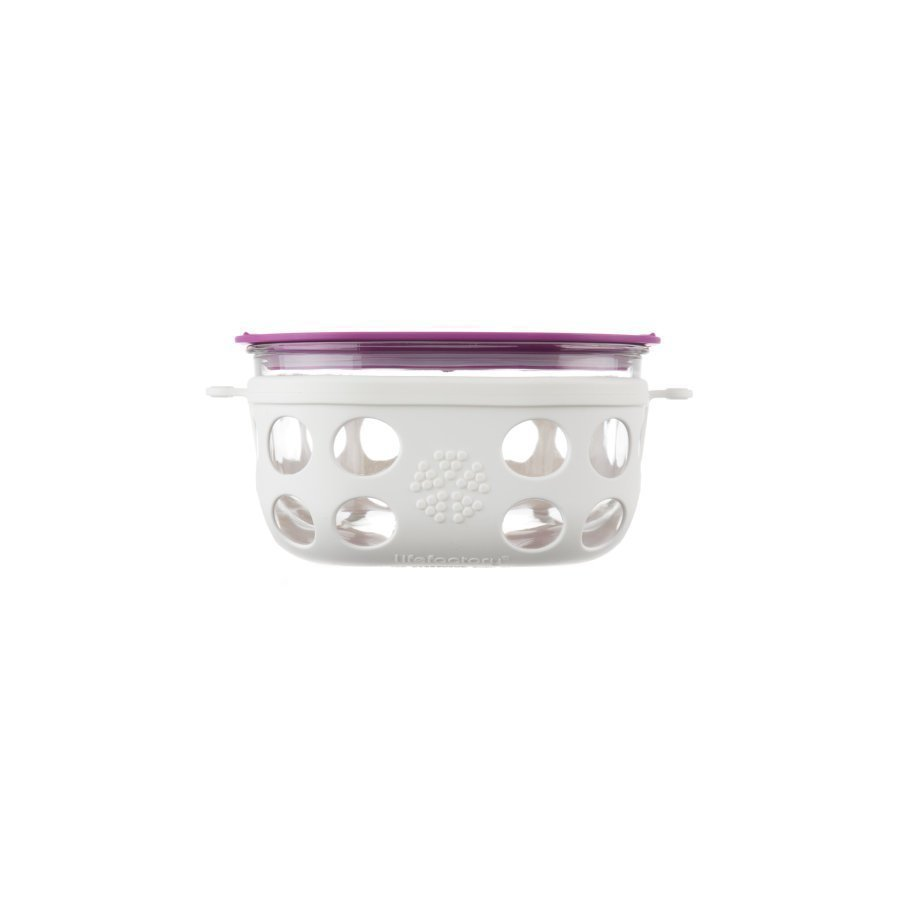 Lifefactory Lasinen Eväsrasia 950 Ml Optic White / Huckleberry