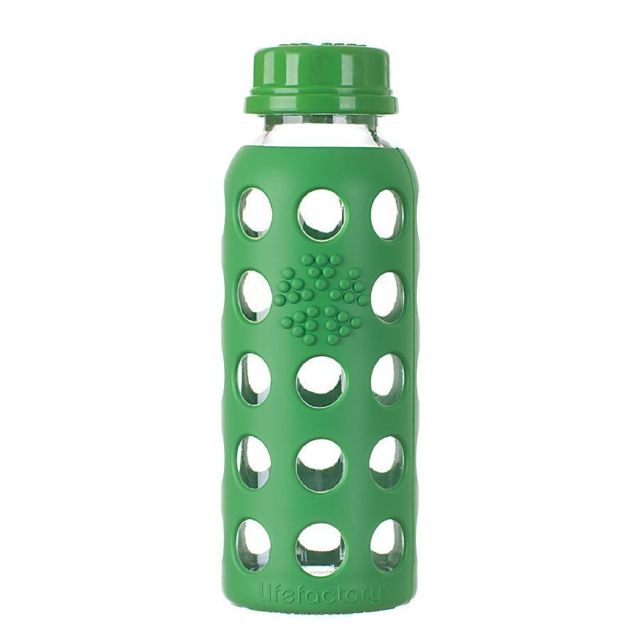 Lifefactory Lasinen Juomapullo 250 Ml Grass Green