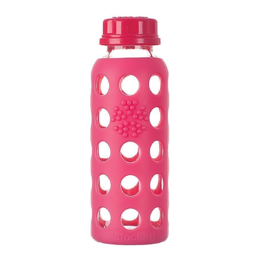 Lifefactory Lasinen Juomapullo 250 Ml Raspberry