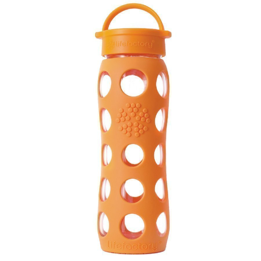 Lifefactory Lasinen Juomapullo 650 Ml Orange