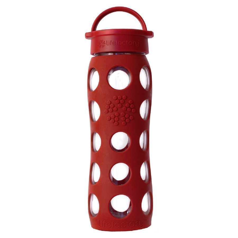 Lifefactory Lasinen Juomapullo 650 Ml Red